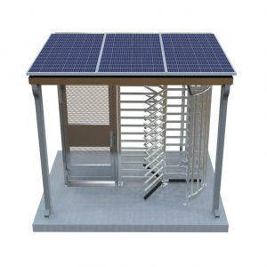 www.TURNSTILES.us-Solar-Powered-Turnstile-ADA-Gate-Canopy